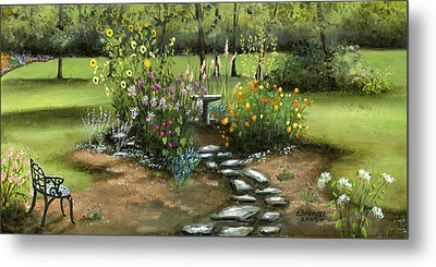 Emily's Garden Metal Print by Cecilia Brendel