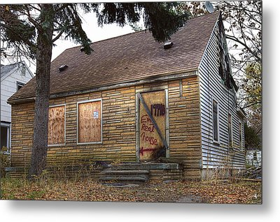 Eminem's Childhood Home Taken On November 11 2013 Metal Print by Nicholas  Grunas