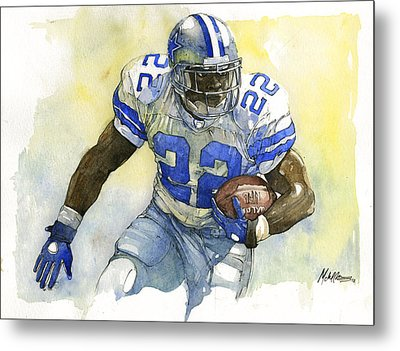 Emmitt Smith Metal Print by Michael  Pattison