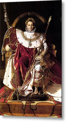 Emperor Napoleon I On His Imperial Throne Metal Print by War Is Hell Store
