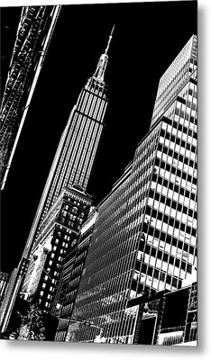 Empire Perspective Metal Print by Az Jackson