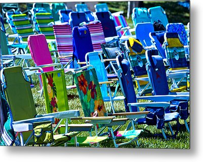Empty Chairs Metal Print by Garry Gay