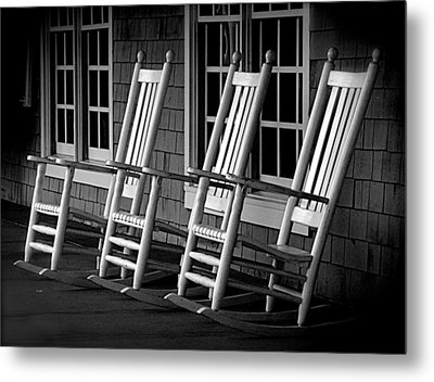.empty Chairs. Metal Print by Lynn E Harvey