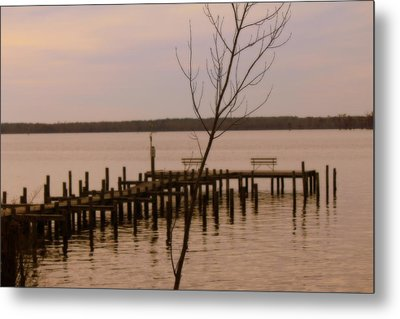 Empty Pier Metal Print by Carolyn Ricks