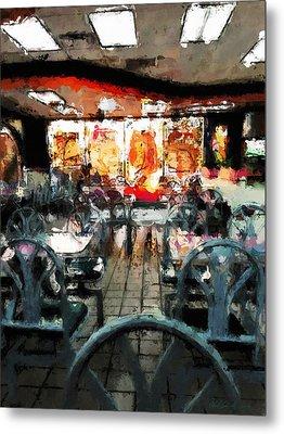 Empty Restaurant Metal Print by Robert Smith
