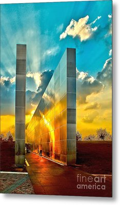 Empty Skies Sunset Metal Print by Nick Zelinsky