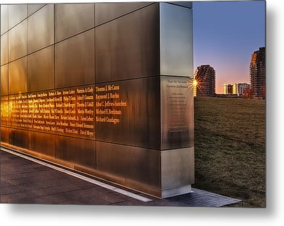 Empty Sky Nj 911 Memorial  Metal Print by Susan Candelario