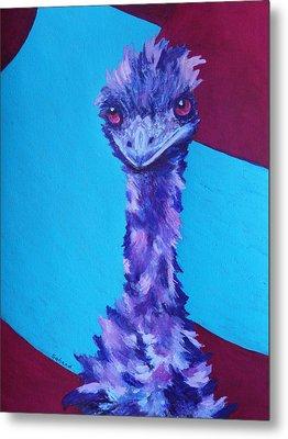 Emu Eyes Metal Print by Margaret Saheed