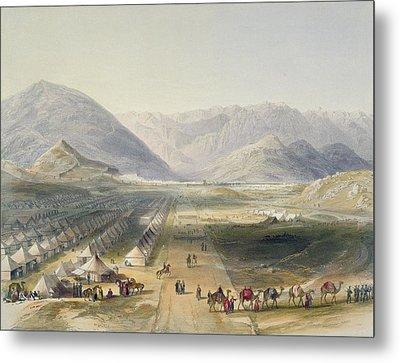 Encampment Of The Kandahar Army Metal Print by James Rattray