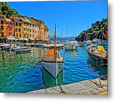 Enchanting Portofino In Ligure Italy Iv Metal Print by M Bleichner