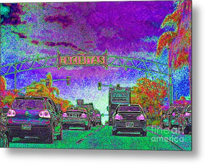 Encinitas California 5d24221m68 Metal Print by Wingsdomain Art and Photography