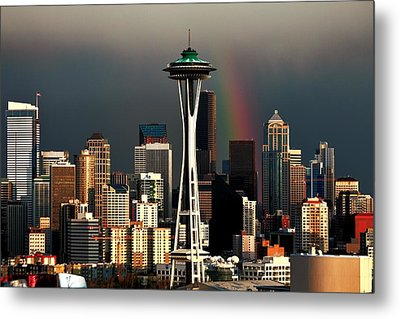 End Of The Rainbow Metal Print by Benjamin Yeager
