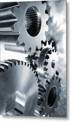 Engineering And Technology Gears Metal Print by Christian Lagereek