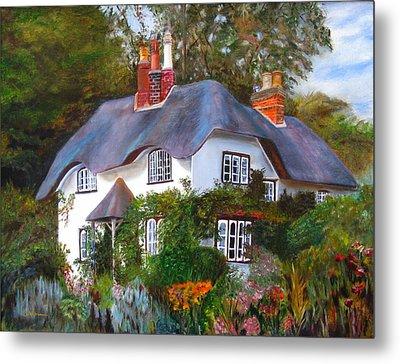 English Cottage Metal Print by LaVonne Hand