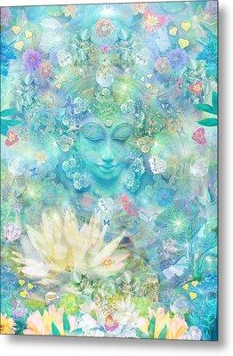 Enlightened Forest Heart 3 Metal Print by Alixandra Mullins