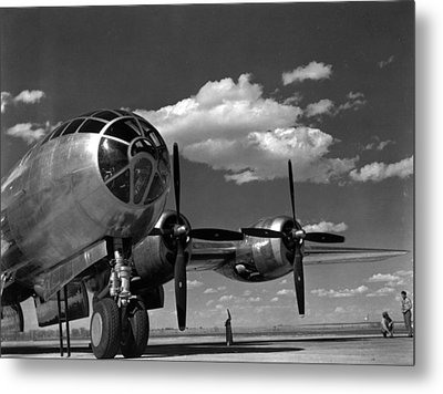 Enola Gay On Runway Metal Print by Retro Images Archive