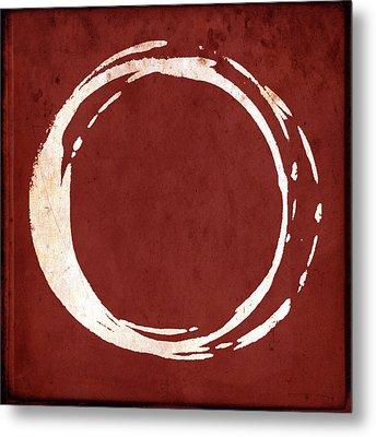 Enso No. 107 Red Metal Print by Julie Niemela