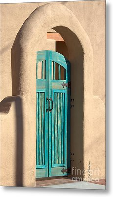 Enter Turquoise Metal Print by Barbara Chichester
