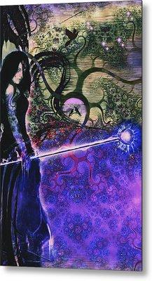Entering In The Spirit Of The Night Metal Print by Linda Sannuti