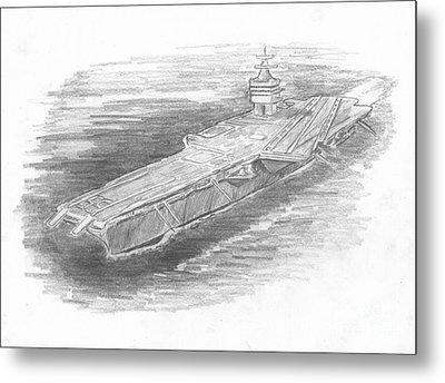 Enterprise Aircraft Carrier Metal Print by Michael Penny
