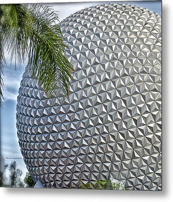 Epcot Globe Metal Print by Thomas Woolworth