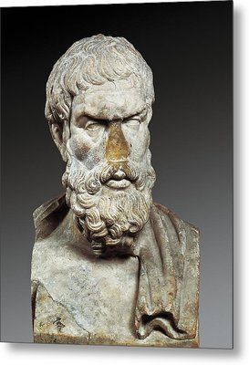 Epicurus 341-270 Bc. Greek Philosopher Metal Print by Everett