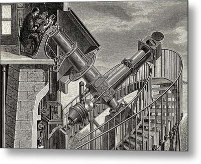 Equatorial Coude' Refracting Telescope Metal Print by Universal History Archive/uig