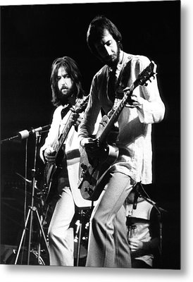 Eric Clapton And Pete Townshend  Metal Print by Chris Walter