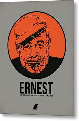 Ernest Poster 1 Metal Print by Naxart Studio