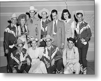 Ernest Tubb Minnie Pearl And Other Grand Ole Opry Stars At Carnegie Hall 1947    Metal Print by Mountain Dreams