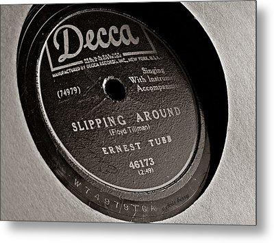 Ernest Tubb Vinyl Record Metal Print by Chris Berry