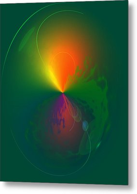Eruption   Metal Print by Larry Bishop