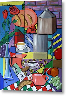 Espresso Metal Print by Anthony Falbo