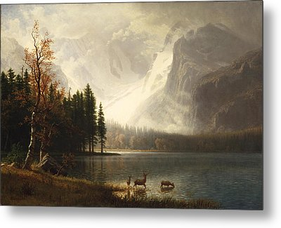 Estes Park Colorado Whytes Lake Metal Print by Albert Bierstadt