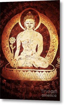 Etched Buddha  Metal Print by Tim Gainey
