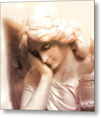 Ethereal Angel Art - Dreamy Surreal Peaceful Comforting Angel Art Metal Print by Kathy Fornal