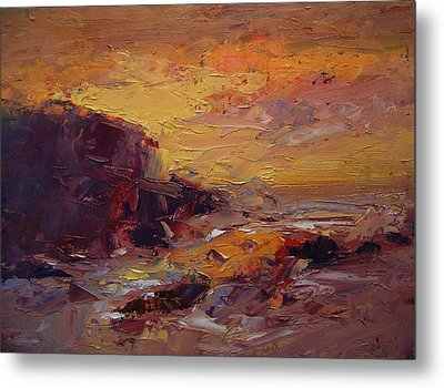 Etude Spooner's Cove At Sunset Metal Print by R W Goetting