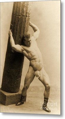 Eugen Sandow Metal Print by American School