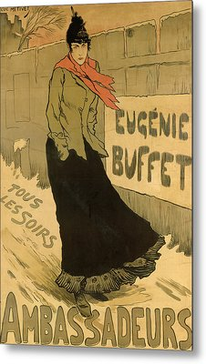 Eugenie Buffet Poster Metal Print by Lucien Metivet