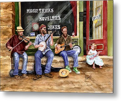 Eureka Springs Novelty Shop String Quartet Metal Print by Sam Sidders