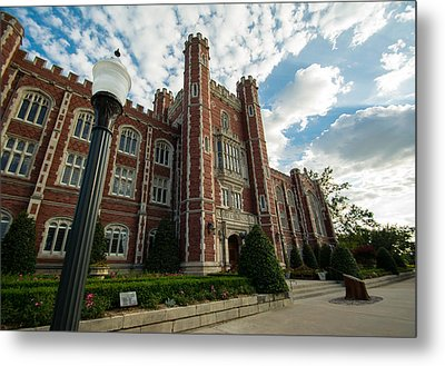 Evans Hall In The Evening Metal Print by Nathan Hillis