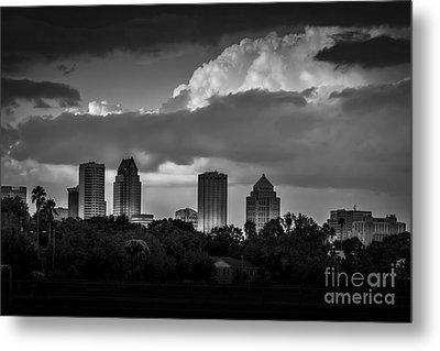 Evening Gray Metal Print by Marvin Spates