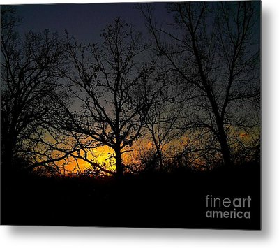 Evening In The Indian Nations Metal Print by R McLellan