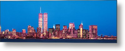 Evening Lower Manhattan New York Ny Metal Print by Panoramic Images