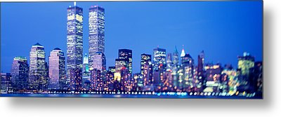 Evening, Lower Manhattan, Nyc, New York Metal Print by Panoramic Images