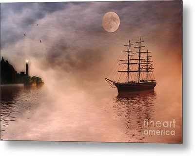 Evening Mists Metal Print by John Edwards