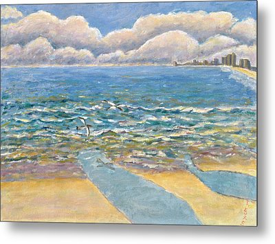 Evening North Myrtle Beach Metal Print by Patricia Eyre