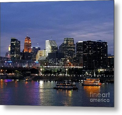 Evening On The River Metal Print by Mel Steinhauer