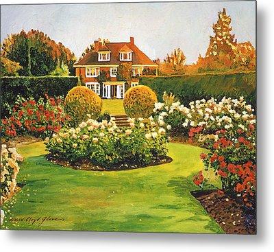 Evening Rose Garden Metal Print by David Lloyd Glover