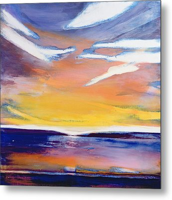 Evening Seascape Metal Print by Lou Gibbs